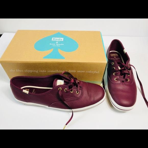 7eebdf9ceff86e Keds Shoes - KEDS X KATE SPADE NEW YORK in Deep Cherry Leather